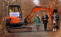 Stewart Stevenson, the former MSP for Transport, with Madge Elliot, a veteran campaigner for the return of the Borders Railway – pictured at the official start of construction in March 2010.