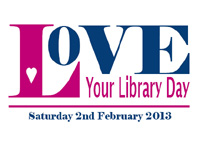 Logo for Love Your Library Day 2013.