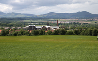 View of Pentlands and Lady Victoria colliery.