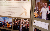 The day the torch came to town - photographic exhibition.