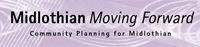 Midlothian moving forward logo.