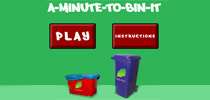 A minute to bin it recycling game