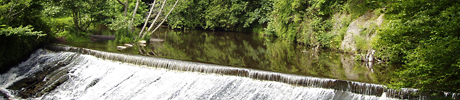 The weir at Roslin Glen Country Park.