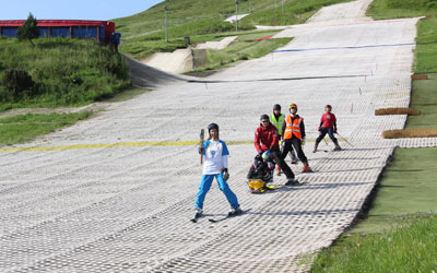The Queen's Baton Relay at Midlothian Snowsports Centre