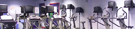 Gym equipment at Loanhead Leisure Centre.