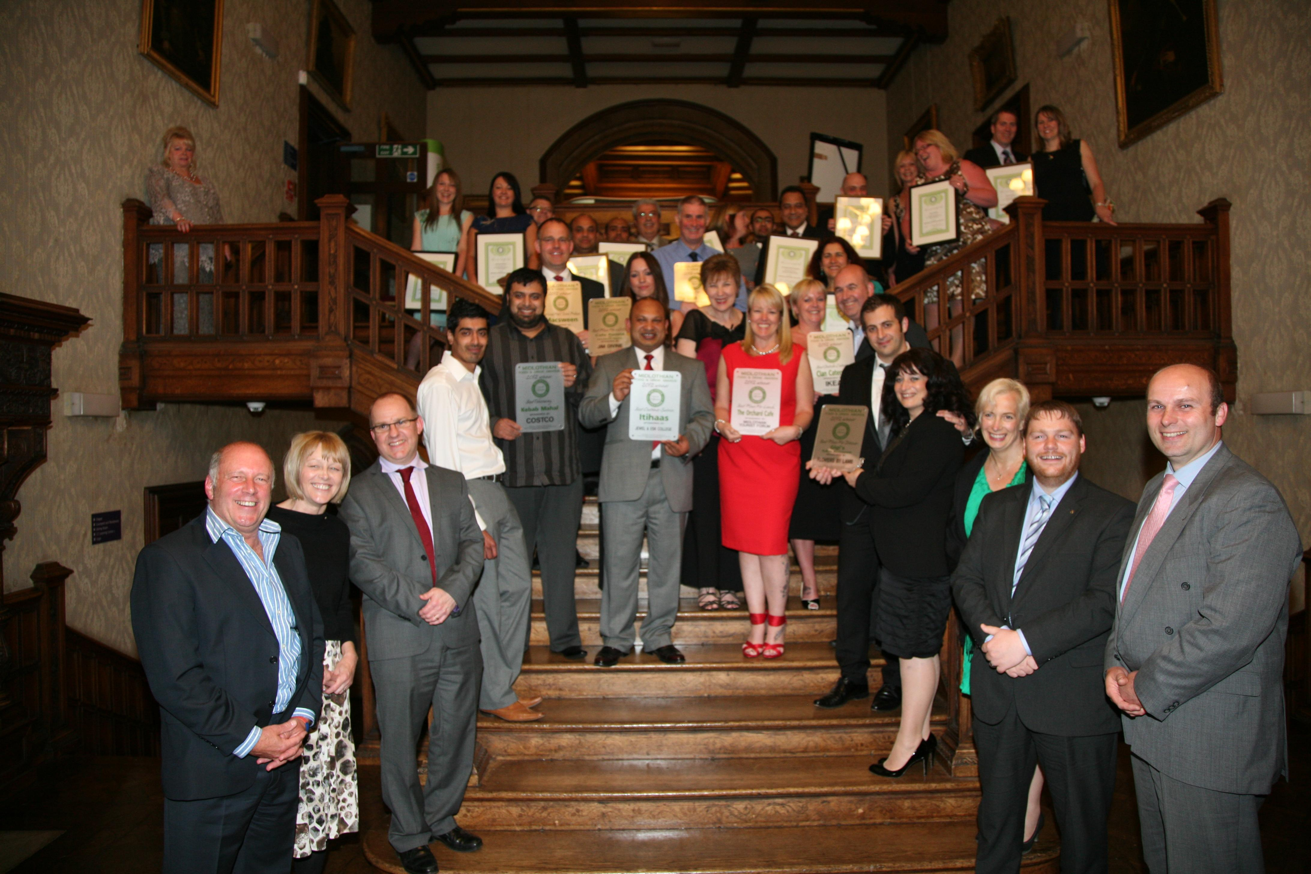 The Winners and Runners-Up of the Midlothian Food and Drink Awards 2012.