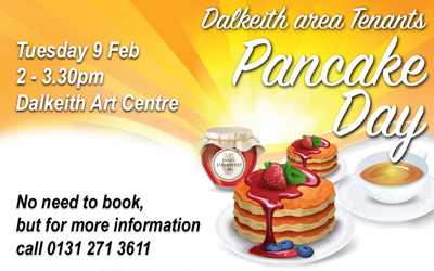 Pancake Day for Dalkeith area tenants
