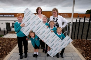 Gore Glen pupils on first birthday of Borders Railway
