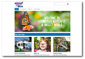 Butterfly World web page