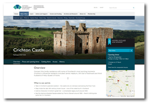 Crichton Castle web page
