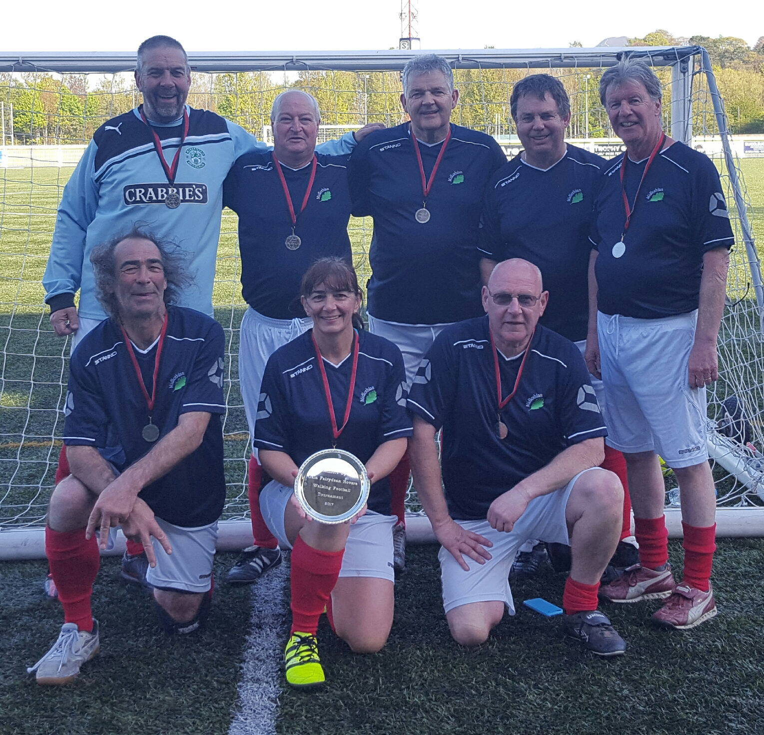 Midlothian Walking Football Team 2017