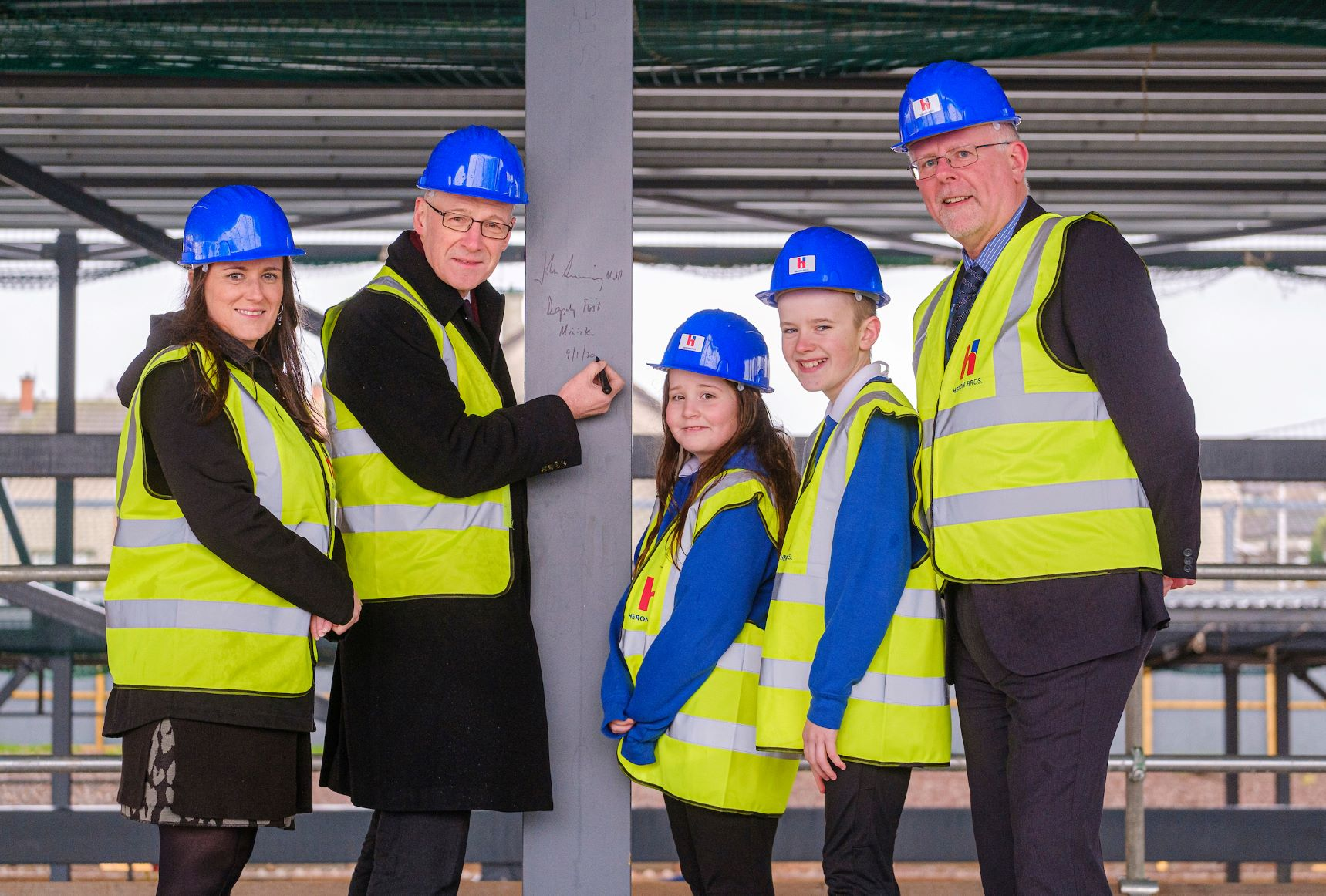 John Swinney at Danderhall topping out