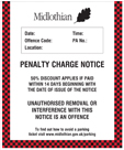 Penalty Charge Notice with Midlothian Council leaf logo