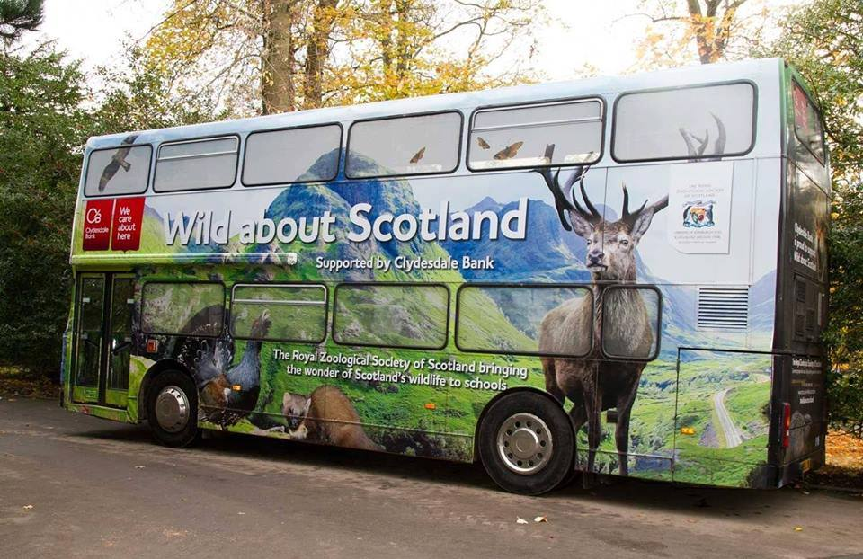 Photo of Wild about Scotland bus that is visiting Midlothian libraries