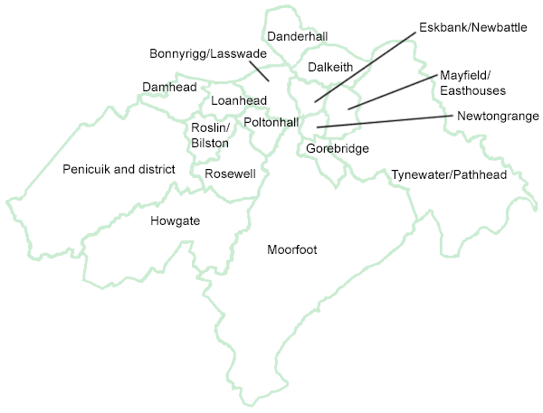 Map of commmuntiy council districts