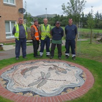 New mosaics at Penicuik