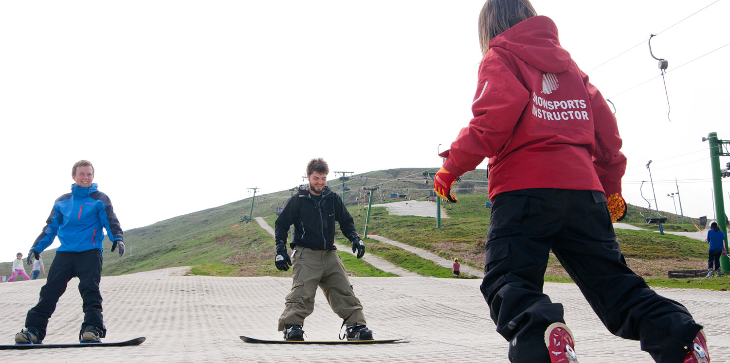 Adult ski and snowboarding courses
